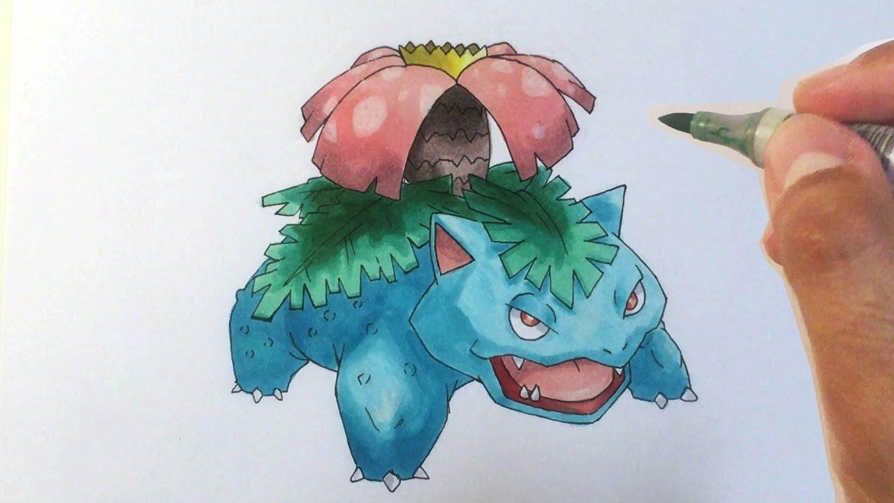 Pokémon Zeichnen 003 Bisaflor Youtube
