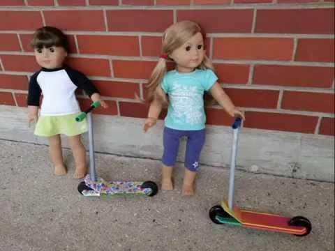 Самокат для куклы своими руками