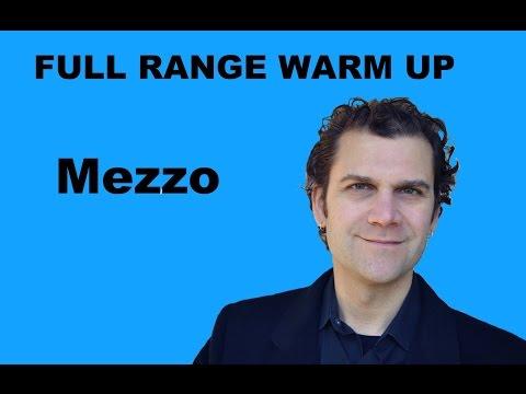 Singing Warm Up - Mezzo Soprano Full Range