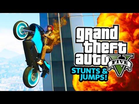 GTA 5 EPIC STUNTS and JUMPS! GTA 5 Stunt Races & MORE GTA 5 Online Jobs! (GTA 5 PS4 Gameplay)