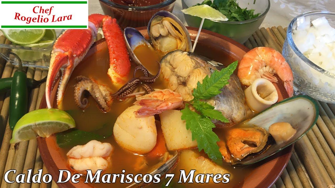 Caldo de mariscos 7 mares deliciosa receta youtube - Coctel de marisco ingredientes ...