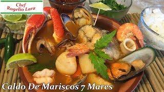 CALDO DE MARISCOS 7 MARES DELICIOSA RECETA!