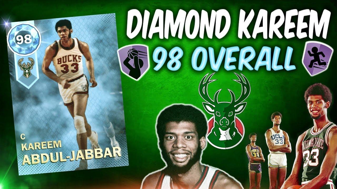 84a503182ab Diamond Kareem Abdul Jabbar Gameplay! Nba 2k18 Myteam Supermax OVERTIME  Sweat