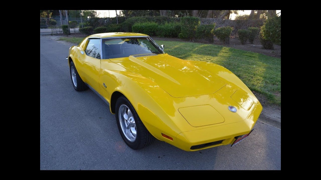 SOLD 1973 Yellow C3 Corvette for sale by Corvette Mike Anaheim California  92807
