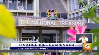 Court suspends implementation of finance bill 2018