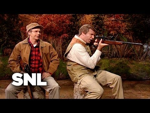 George H. W. Bush and George W. Bush Go Hunting - SNL
