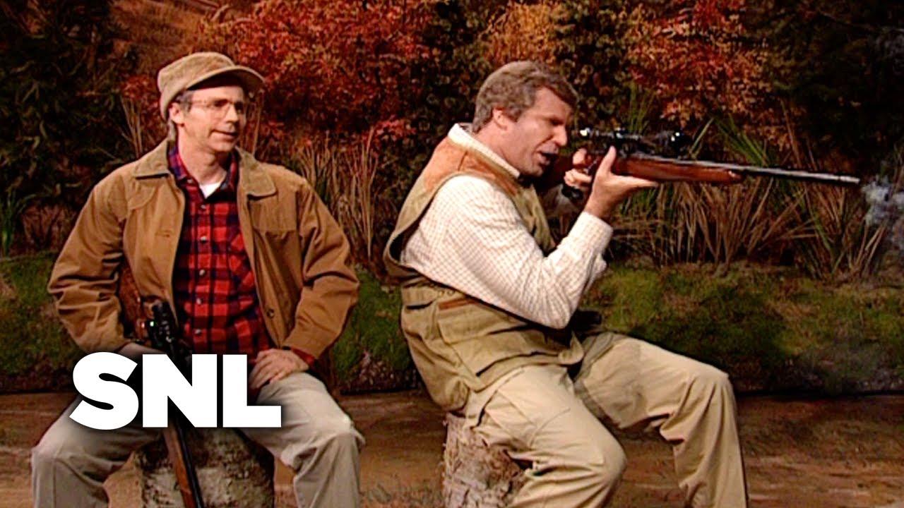 George H. W. Bush and George W. Bush Go Hunting - SNL ... George W Bush Hunting