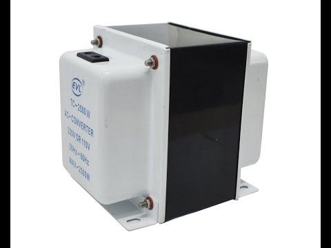 Transformador EVL 2500w step down/up convertidor 110v 220v en ambos sentidos