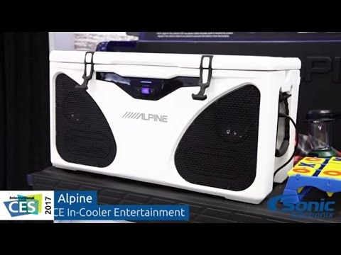 Alpine PWD-CB1 ICE In-Cooler Entertainment System | CES 2017
