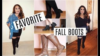 FAVORTIE FALL BOOTS TRY-ON // WIDE-CALF & WIDE-WIDTH// PLUS SIZE FASHION