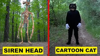 WE CAUGHT SIREN HEAD AND CARTOON CAT AT THE SCREAMING FOREST! | SIREN HEAD AND CARTOON CAT APPEAR!