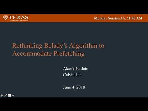 Rethinking Belady's Algorithm to Accommodate Prefetching