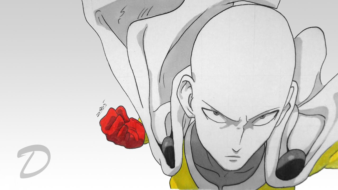 Speed Drawing Of Saitama One Punch Man Youtube