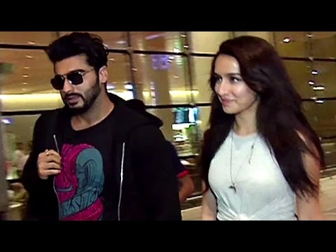 CUTE Shraddha Kapoor Spotted At Mumbai Airport With Arjun Kapoor