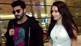CUTE Shraddha Kapoor Spotted At Mumbai Airport With Arjun Kapoor