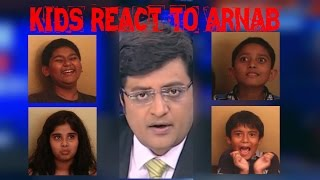 Hilarious! Kids react to Arnab Goswami