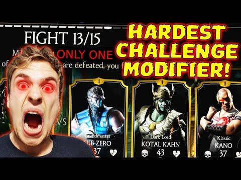 MKX Mobile. Ronin Kitana Challenge Gameplay. SO MUCH RAGE in Battle 13. Only One Modifier. thumbnail