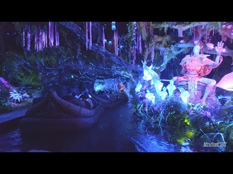[4K] Avatar Land Boat Ride - Na'vi River Journey - Pandora - Animal Kingdom