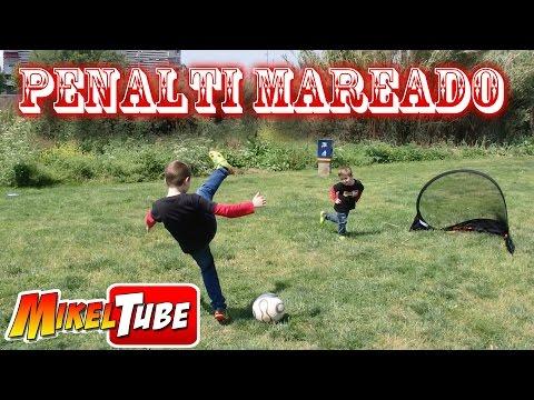 Reto del PENALTI MAREADO fútbol en Mikel Tube