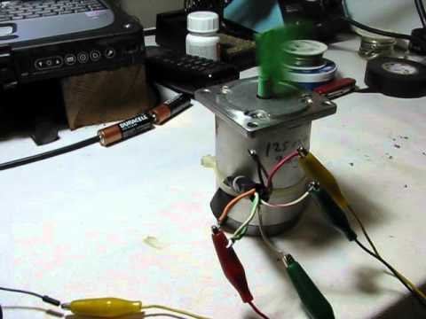 8 wire stepper motor test with arduino youtube for How to test stepper motor