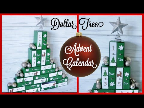 Dollar Tree DIY Christmas Advent Calendar