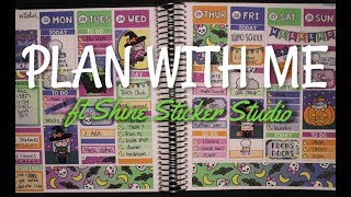 Plan With Me | ft Shine Sticker Studio - Luna Witch Halloween