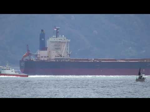 Bulk Carrier ship CAPE EAGLE passes through the Akashi channel