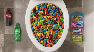 Will it Flush? - Coca Cola, Fanta, Sprite, Mirinda Balloons, M&M's, Reese's Coffee, Candy