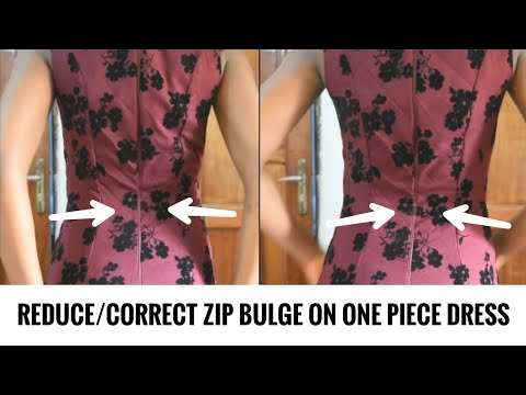 HOW TO CORRECT/REDUCE/AVOID ZIP BULGE ON ONE PIECE DRESS Mp3
