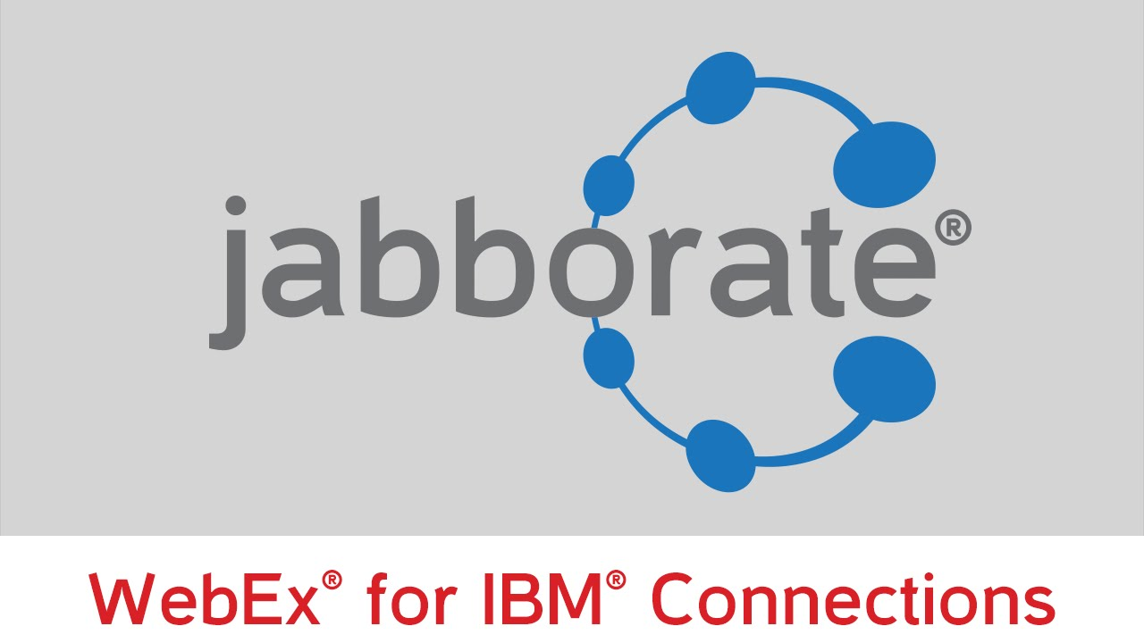 WebEx integration with IBM Connections