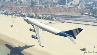 GTA 5 - 20 cenas com aviões que só um doido faria ( Vídeo cômico )