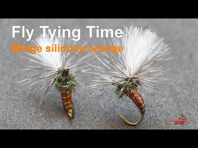 Fly Tying Time - Midge silicone orange