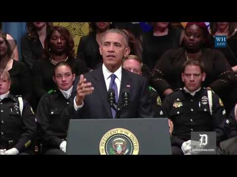 President Obama speaks at interfaith service for fallen Dallas officers