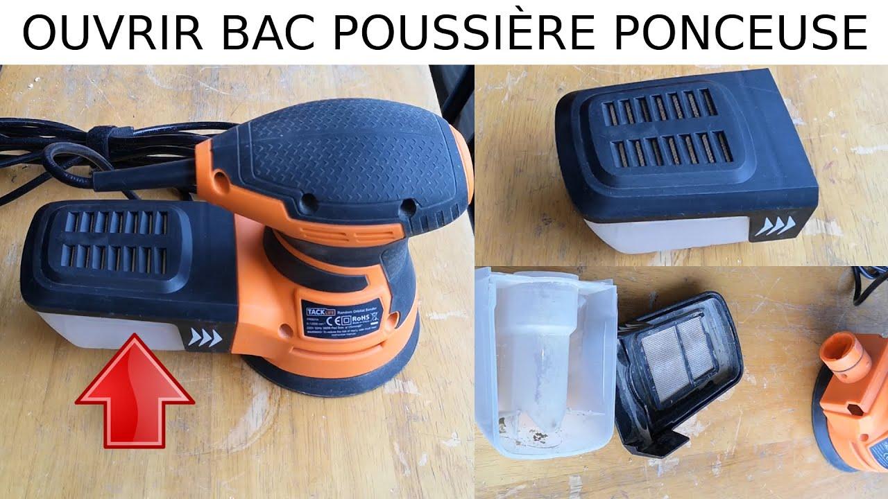 Comment Ouvrir Le Bac A Poussiere Sur Ponceuse Orbitale Tacklife Prs01a 350w Reservoir Sciure Youtube