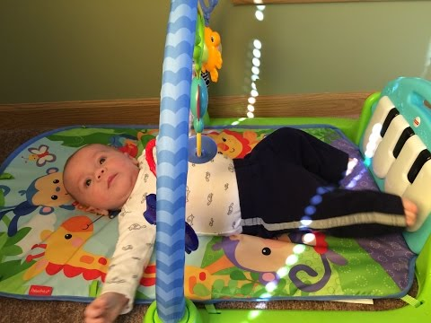 Best Baby Play Gym!  Review of Fisher Price Kick & Play Piano Gym