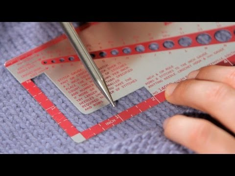 How to Measure Gauge | Knitting