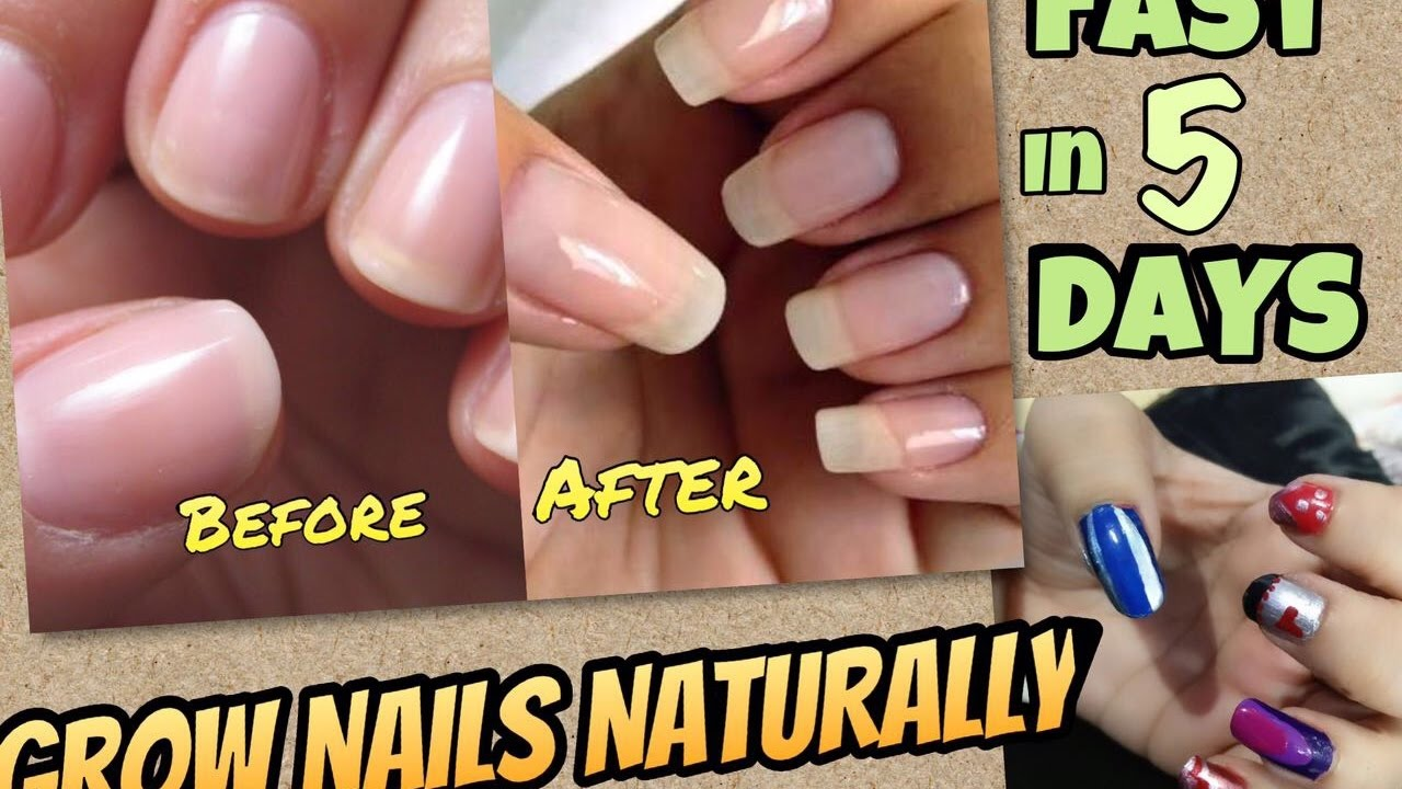 DIY Nail Growth Recipe | How to grow Nails Fast NATURALLY in 5 days ...