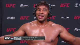 UFC Вегас 9: Алистар Оверим - Слова после боя