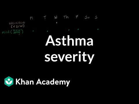 Asthma severity | Respiratory system diseases | NCLEX-RN | Khan Academy