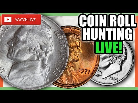 COIN ROLL HUNTING FOR RARE COINS - COIN COLLECTING LIVE