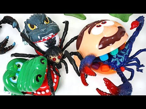 Thumbnail: Giant scorpion, spider appeared! Crocodile, dinosaur, dentist doctor Drill! Go! - DuDuPopTOY