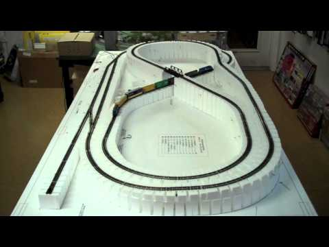 White Rose Hobbies N Scale Layout Build #1 (HD)