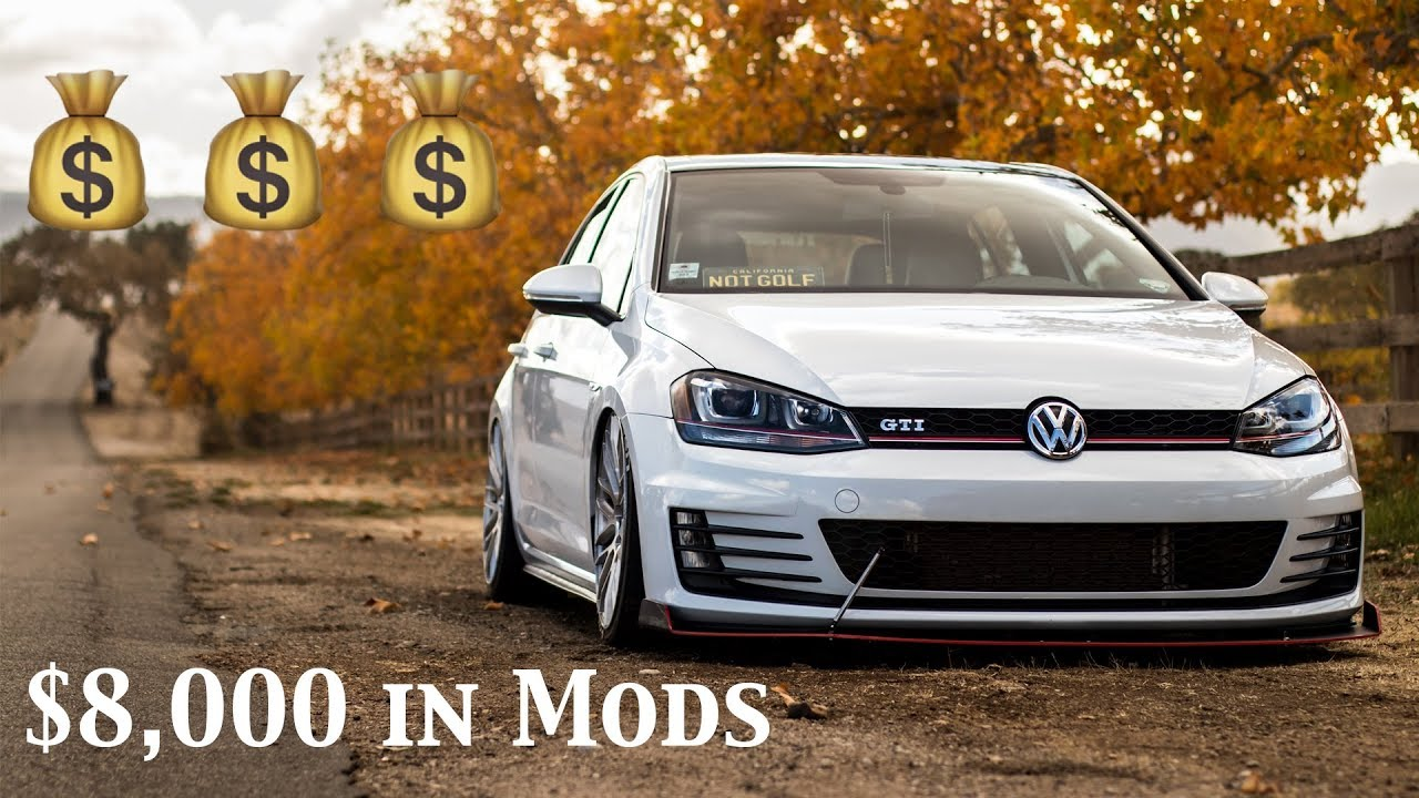 Gti Mods Explained 300hp Bagged Mk7 Gti 8 000 In Mods Youtube