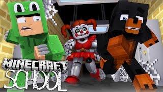 Minecraft SCHOOL - FNAF SISTER LOCATION SECRET HIDEOUT - Donut the Dog Minecraft Roleplay