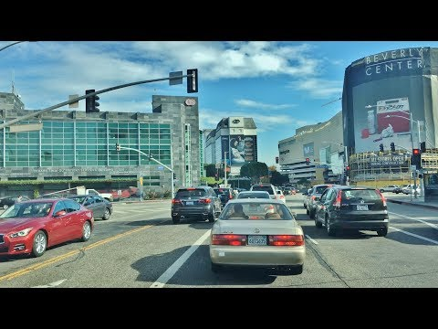 Driving Downtown - LA's Studio Zone - Los Angeles California USA