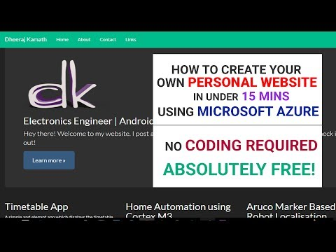 How to Create Your Own Website Using Microsoft Azure (2017) in Under 15 mins! (No Coding Required)