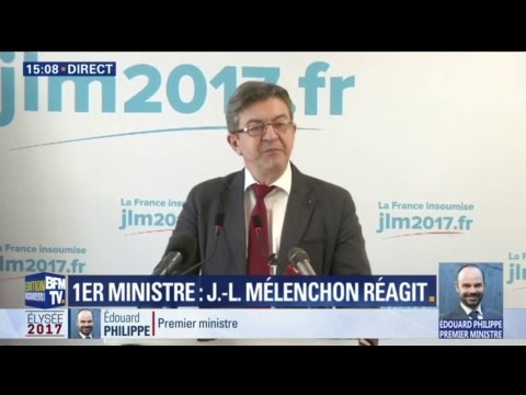 """Édouard Philippe nommé Premier ministre: """"Le vieux monde est de retour"""", d'après Mélenchon"""