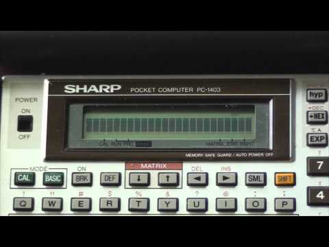 osaka - A Music Demo for Sharp PC-1403