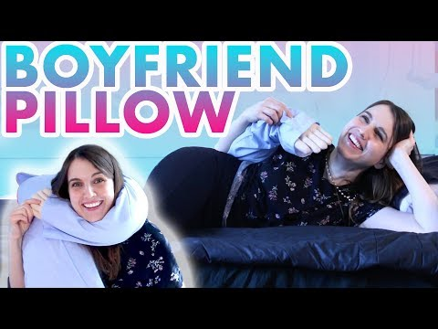 Cuddling the Boyfriend Pillow and Review It!