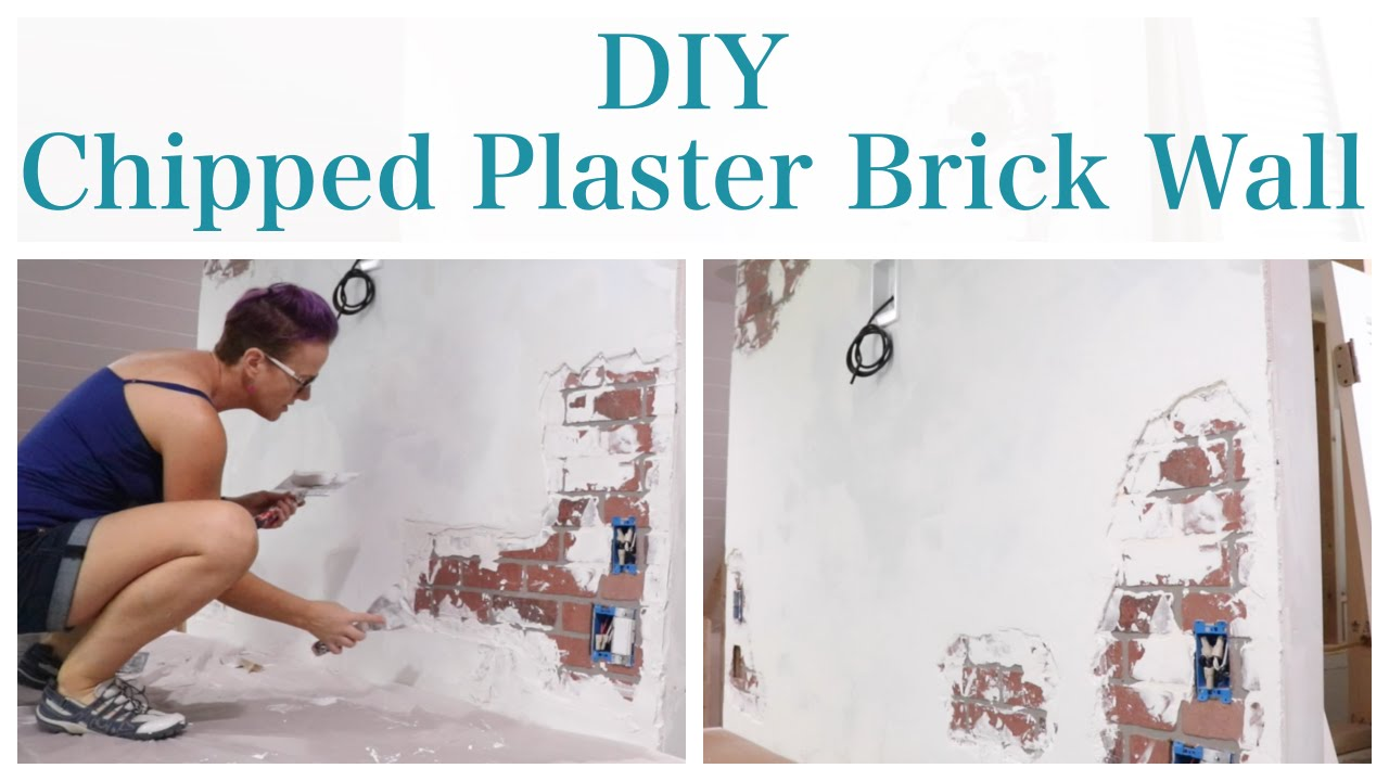 Faux Brick and Chipped Plaster Wall - YouTube